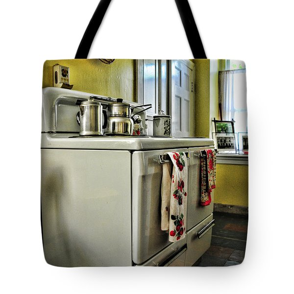 1950's Kitchen Stove Tote Bag by Paul Ward