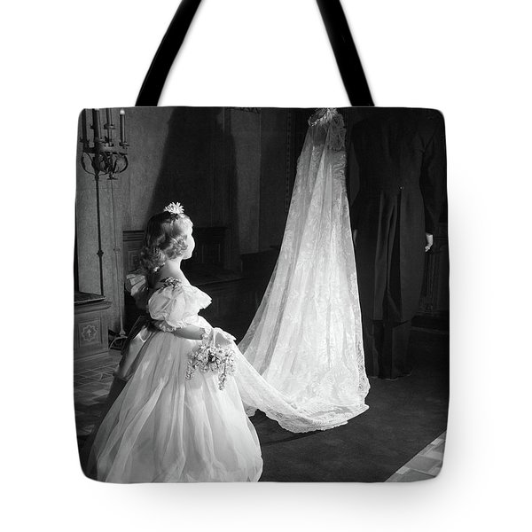 1950s Little Flower Girl Maid Of Honor Tote Bag