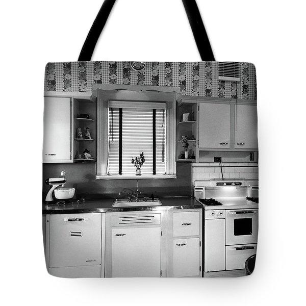 1950s Modern Kitchen Interior Sink Tote Bag