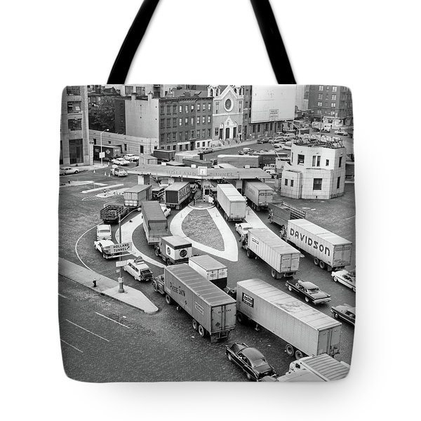 1950s Overhead Of Traffic Congestion Tote Bag