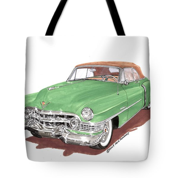 1951 Cadillac Series 62 Convertible Tote Bag by Jack Pumphrey