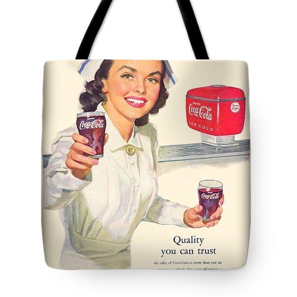 1952 - Coca-cola Advertisement - Color Tote Bag