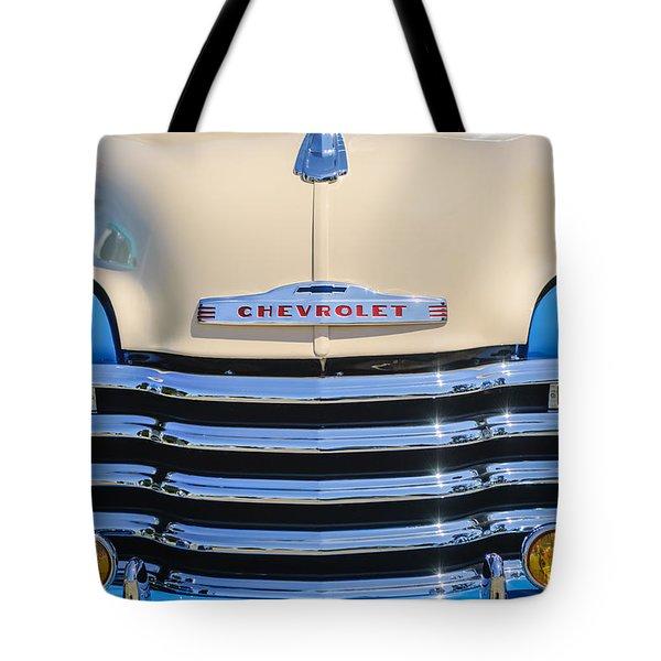 1952 Chevrolet Pickup Truck Grille Emblem Tote Bag