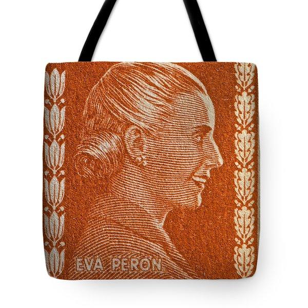 1952 Eva Peron Argentina Stamp Tote Bag