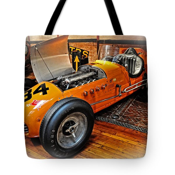 1952 Indy 500 Roadster Tote Bag