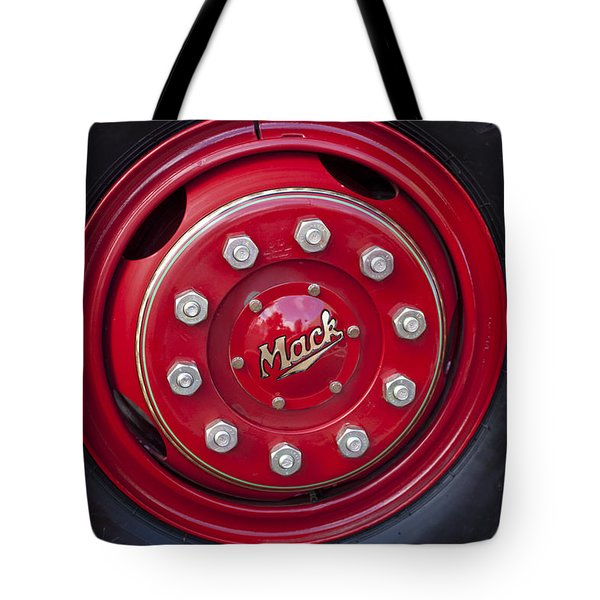 1952 L Model Mack Pumper Fire Truck Wheel Tote Bag by Jill Reger