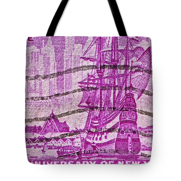 1953 300th Anniversary Of New York City Stamp Tote Bag by Bill Owen