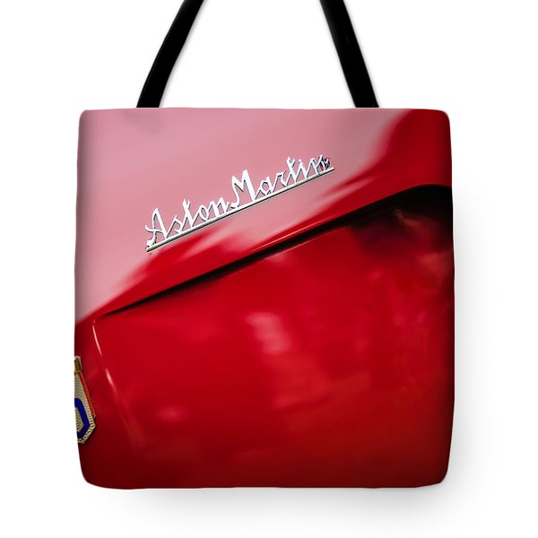 1953 Aston Martin Db2-4 Bertone Roadster Emblems Tote Bag