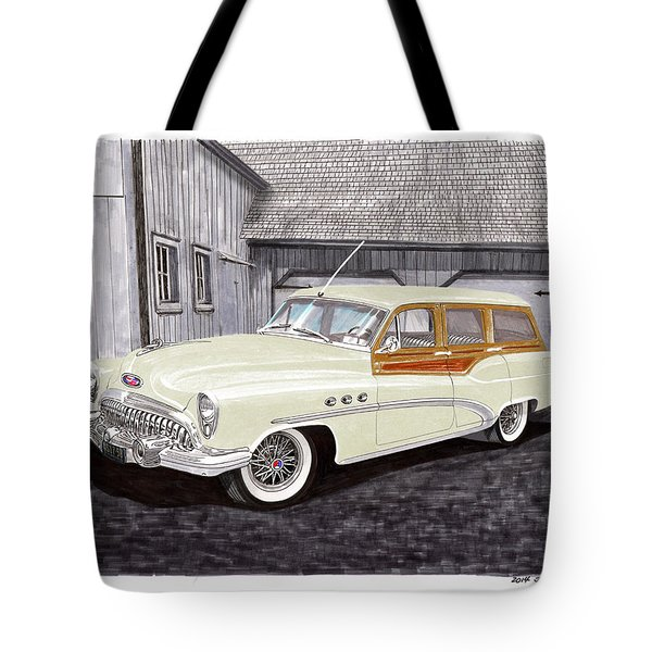 1953 Buick Estate Wagon Woody Tote Bag