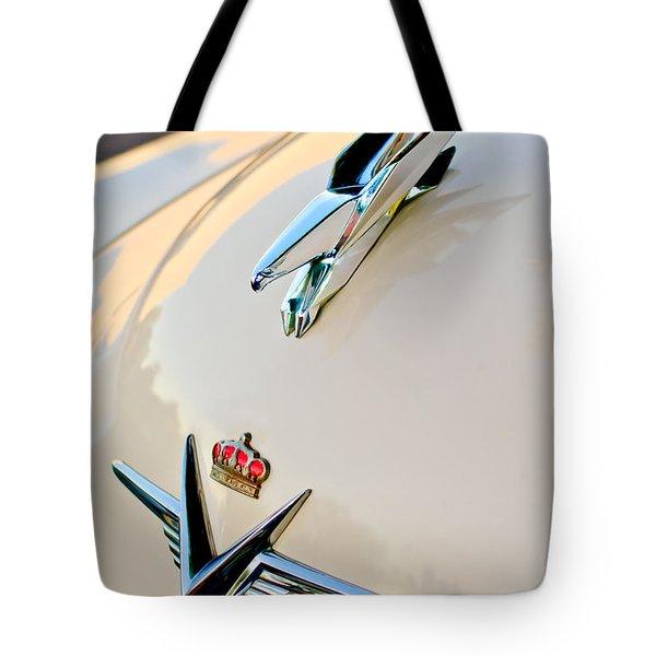1953 Chrysler Imperial Custom Hood Ornament Tote Bag by Jill Reger