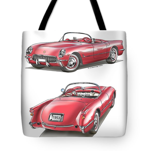 1953 Corvette Tote Bag