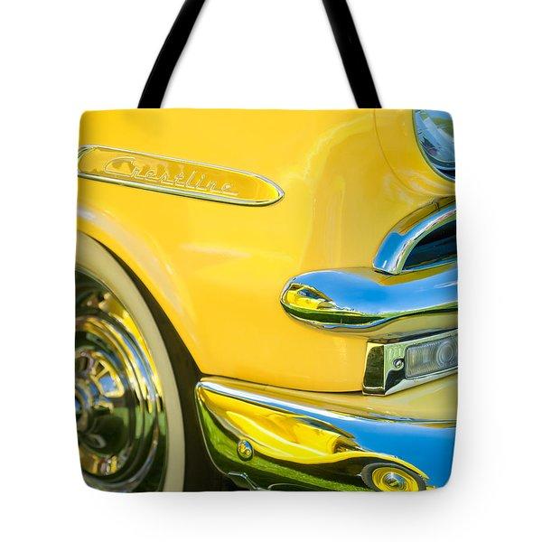 1953 Ford Crestline Convertible Emblem Tote Bag by Jill Reger