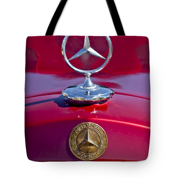Tote Bag featuring the photograph 1953 Mercedes Benz Hood Ornament by Jill Reger
