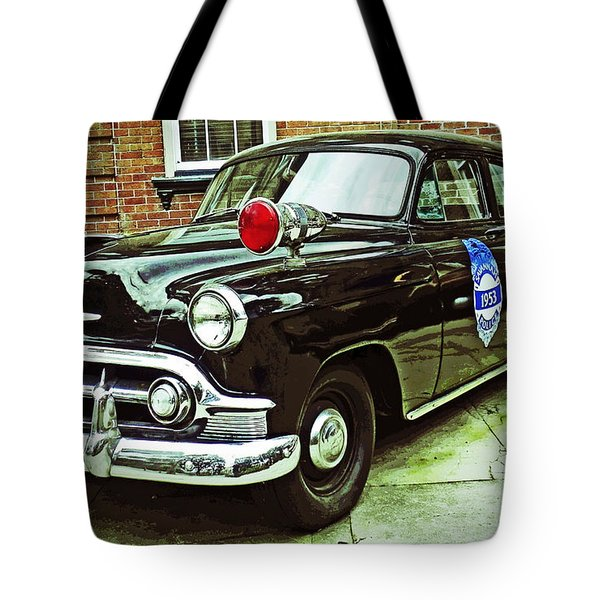 1953 Police Car Tote Bag