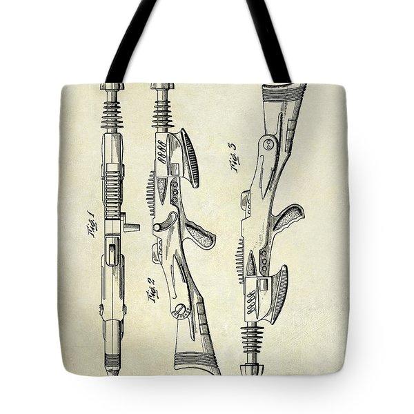 1953 Toy Gun Patent Drawing  Tote Bag