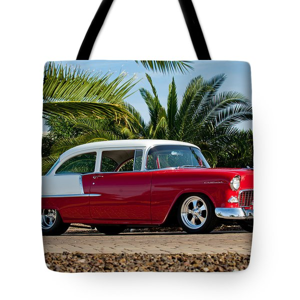 Tote Bag featuring the photograph 1955 Chevrolet 210 by Jill Reger