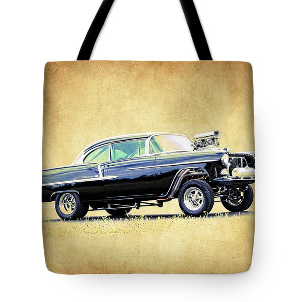 1955 Chevy Gasser Tote Bag by Steve McKinzie