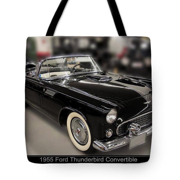 1955 Ford Thunderbird Convertible Tote Bag by Chris Flees