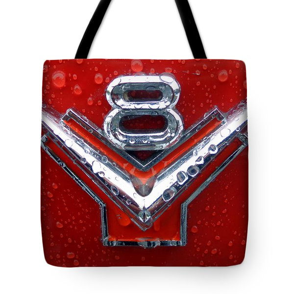 1955 Ford V8 Emblem Tote Bag by Joseph Skompski