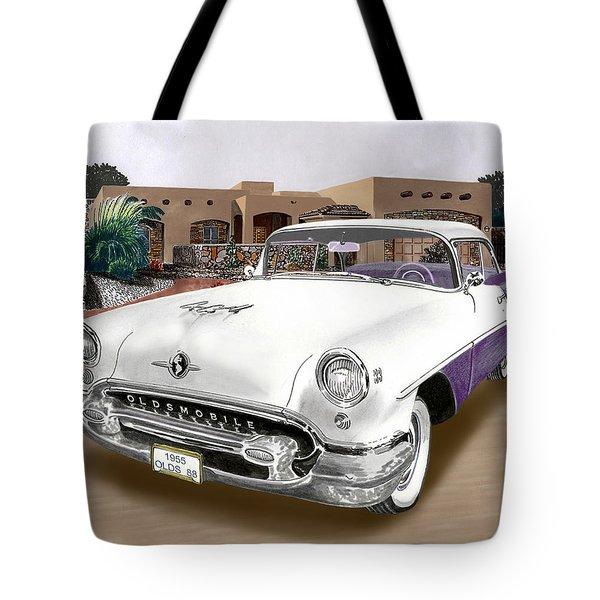 1955 Oldsmobile Super 88 Tote Bag