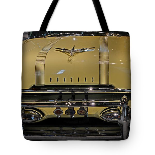 1955 Pontiac Chieftain Front Tote Bag by Paul Ward