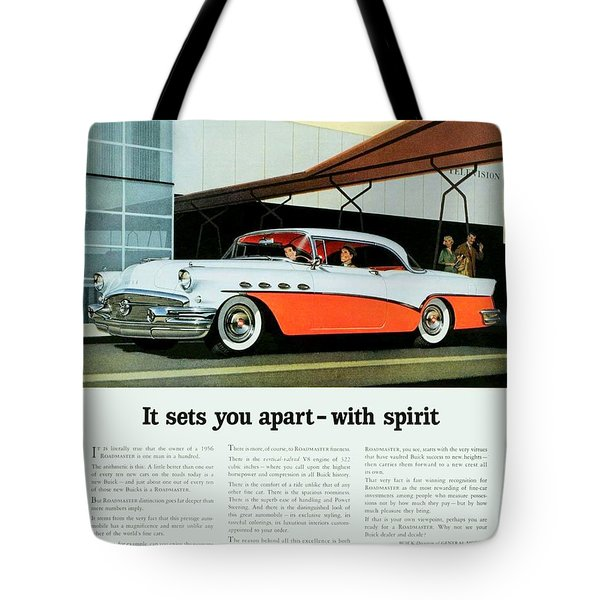 1956 - Buick Roadmaster Convertible - Advertisement - Color Tote Bag