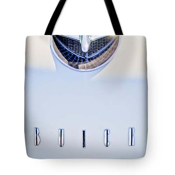 1956 Buick Special Hood Ornament Tote Bag by Jill Reger