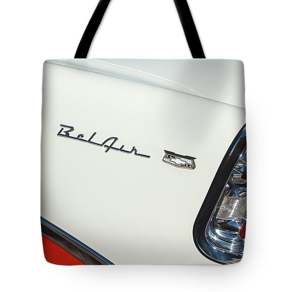 1956 Chevrolet Belair Coupe Taillight Tote Bag