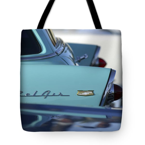 1956 Chevrolet Belair Nomad Rear End Tote Bag by Jill Reger