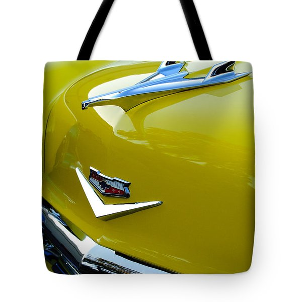 1956 Chevrolet Hood Ornament 3 Tote Bag by Jill Reger