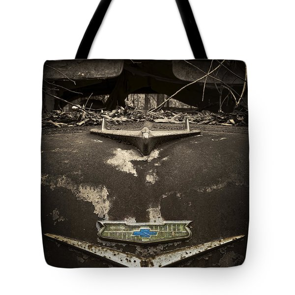 1956 Chevrolet Rust Bucket Sepia Toned Tote Bag