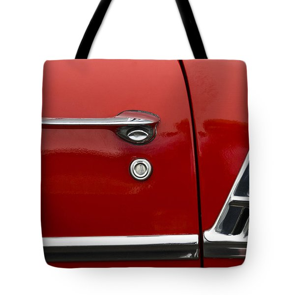 1956 Chevy Door Detail Tote Bag by Carol Leigh