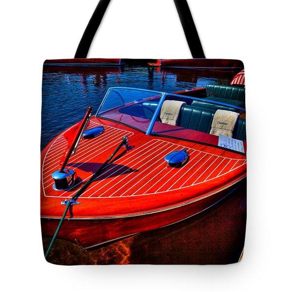 1956 Chris-craft Capri Classic Runabout Tote Bag
