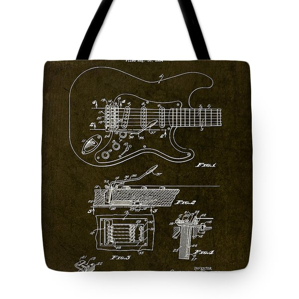 1956 Fender Tremolo Patent Drawing II Tote Bag