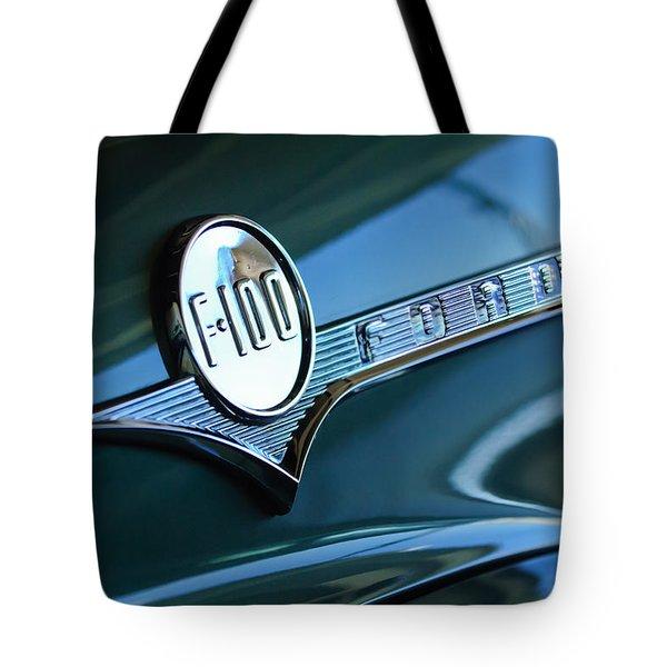 1956 Ford F-100 Truck Emblem Tote Bag