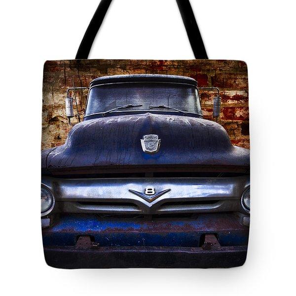 1956 Ford V8 Tote Bag by Debra and Dave Vanderlaan