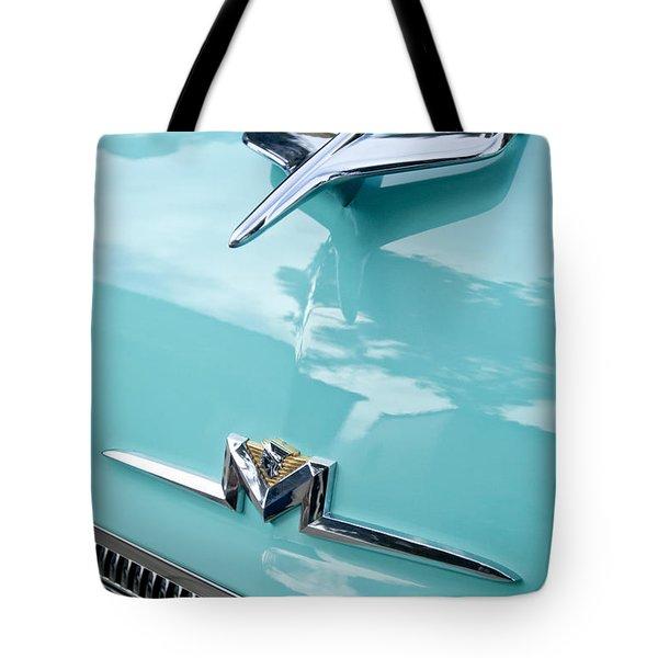 1956 Mercury Monterey Hood Ornament Tote Bag by Jill Reger