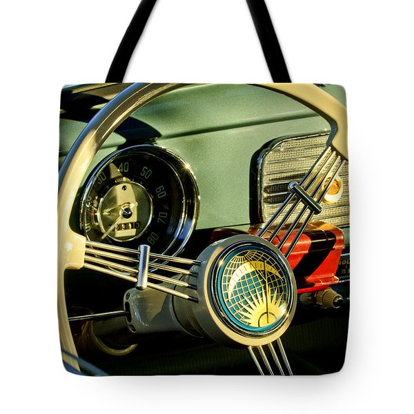 1956 Volkswagen Vw Bug Steering Wheel 2 Tote Bag by Jill Reger