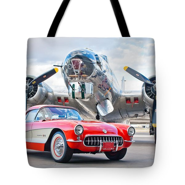 Tote Bag featuring the photograph 1957 Chevrolet Corvette by Jill Reger