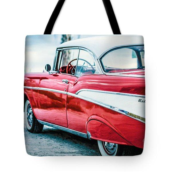 1957 Chevy Bel Air Tote Bag