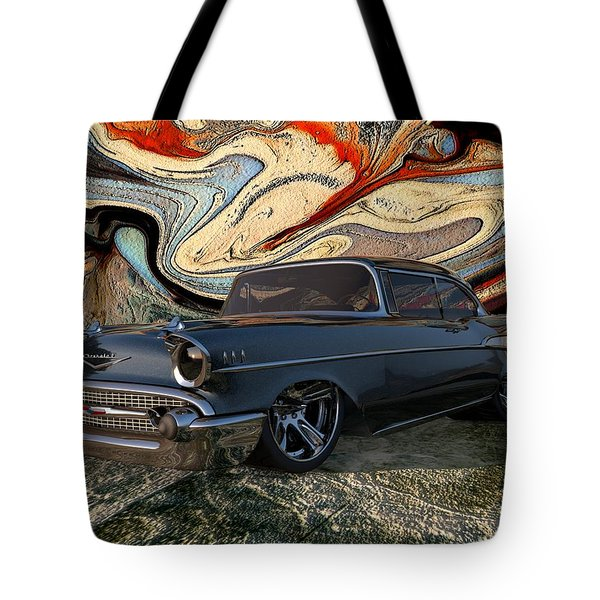 1957 Chevy Bel Air Tote Bag