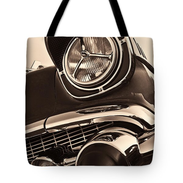 1957 Chevy Details Tote Bag