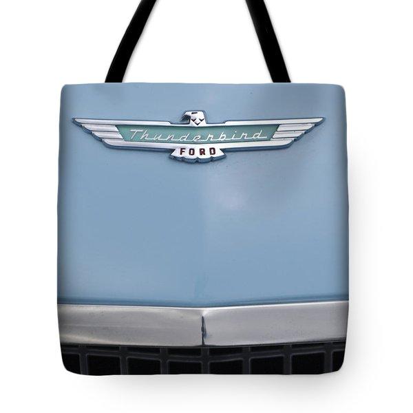 1957 Ford Thunderbird Hood Ornament 2 Tote Bag