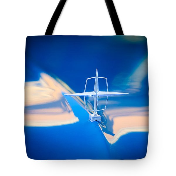 1957 Lincoln Continental Hood Ornament Tote Bag by Jill Reger