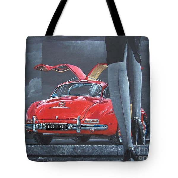 1957 Mercedes Benz 300 Sl Gullwing Coupe Tote Bag
