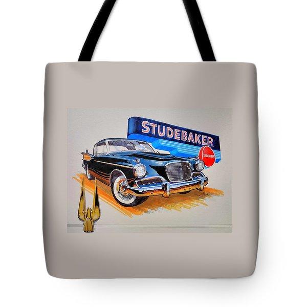 1957 Studebaker Golden Hawk Tote Bag
