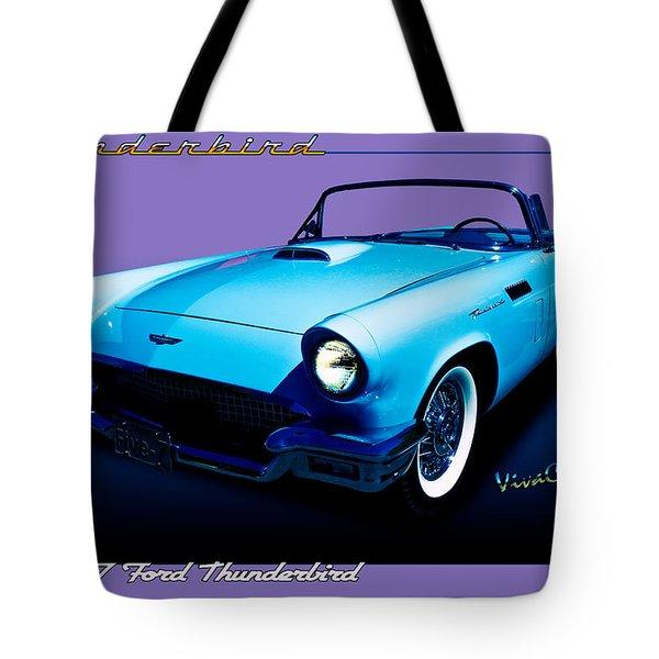 1957 Thunderbird Poster Tote Bag