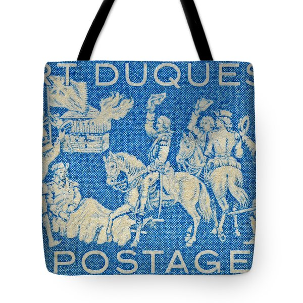 1958 Battle Of Fort Duquesne Stamp Tote Bag by Bill Owen