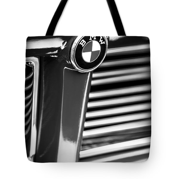 1958 Bmw 3200 Michelotti Vignale Roadster Grille Emblem -2414bw Tote Bag by Jill Reger