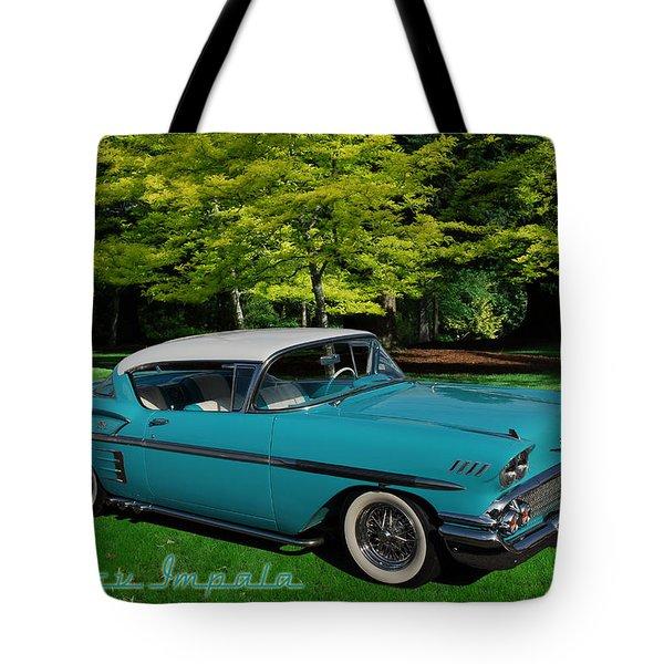1958 Chev Impala Tote Bag